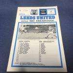 1972-73 Sezonu Leeds Unidet Ankaragücü Maçı Resmi Maç Programı