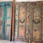 Eski Antika Ahşap Han Kapısı
